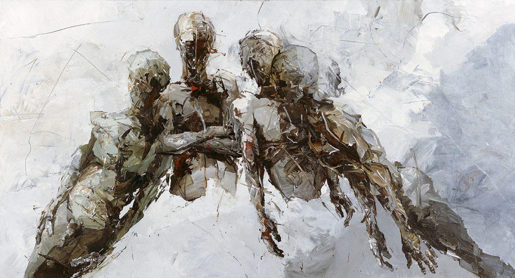 Auftragsarbeit: Gleich-Gewicht · Acryl auf Leinwand · 120 x 240 cm