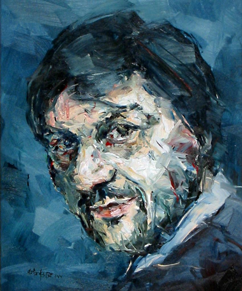 Auftragsarbeit · Portrait von C. Lenners