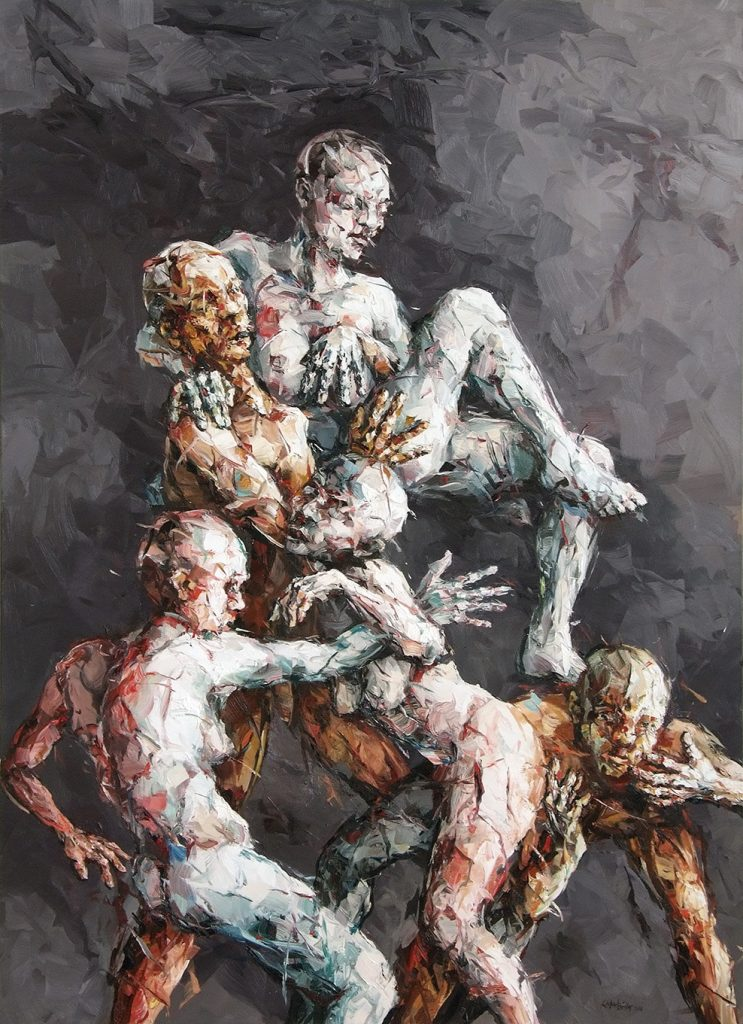 Eberhard Bitter · Aus der Mitte · 220 x 160 cm