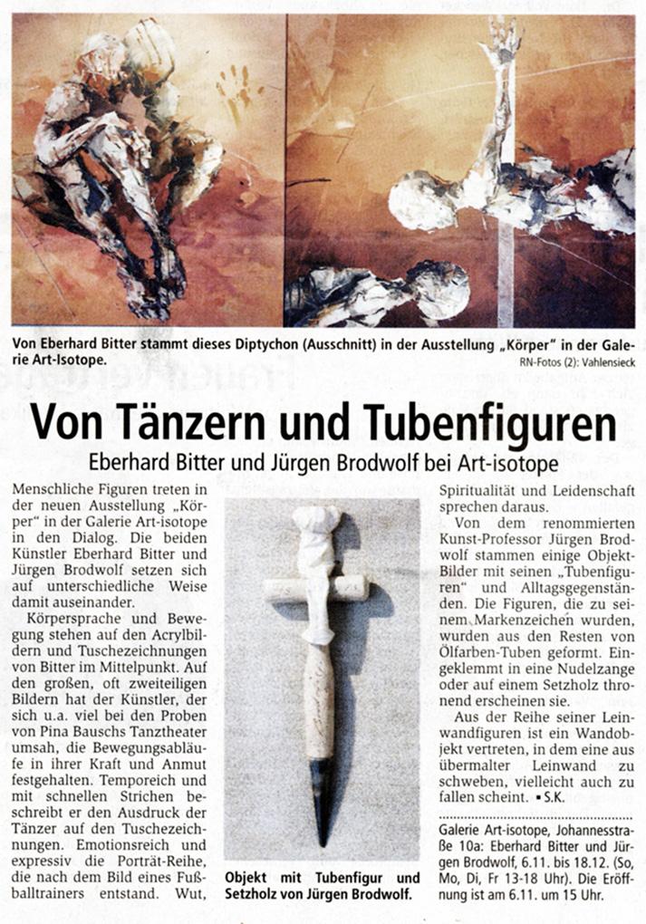 Von Tänzern und Tubenfiguren · RN 3.11.2005