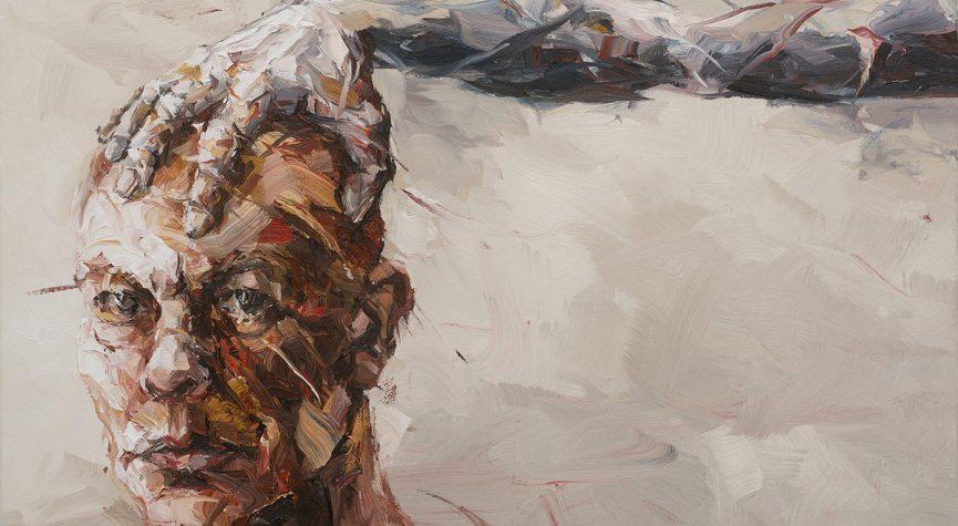 Kopf-Selbst · 2018 · Öl auf Leinwand · 60 x 90 cm