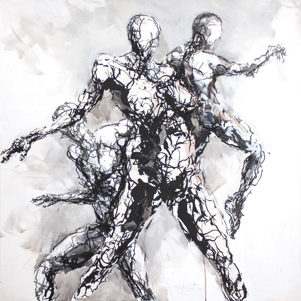 Eberhard Bitter · Vorfreude · 105 x 105 cm