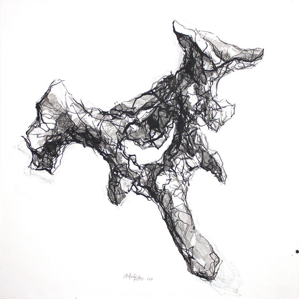 Eberhard Bitter · Wirbel · 100 x 100 cm